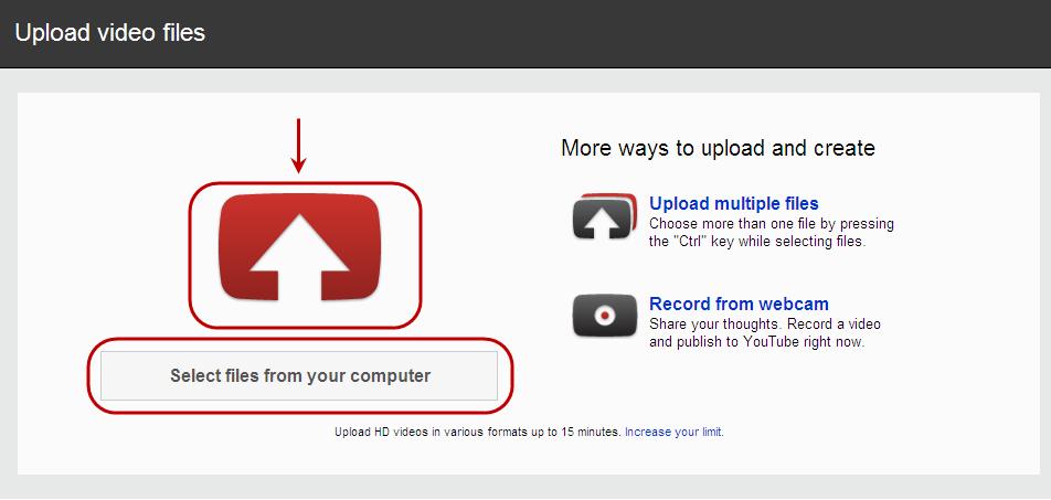 YouTube's Uploading Interface